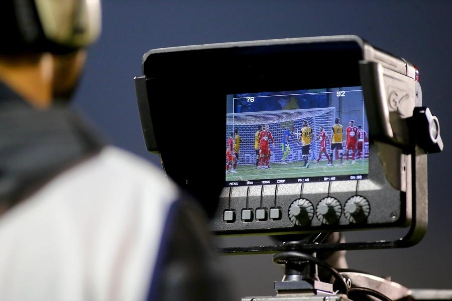 κάμερα τηλεόραση ποδόσφαιρο οθόνη